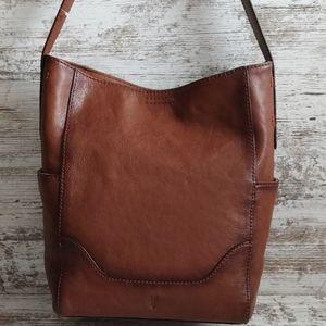 NWT Frye Cognac Leather Side Pocket Hobo Tote